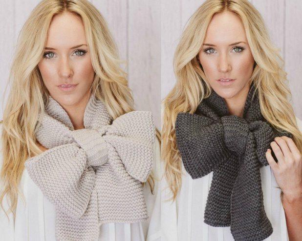 Объемные вязаные шарфы - модные в 2016 году