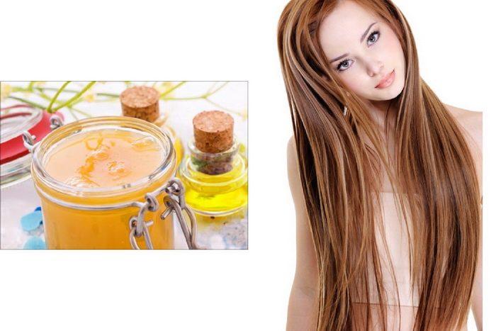 маска для волос питательная с медом