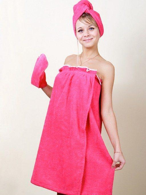 Девушка завязанная полотенцем