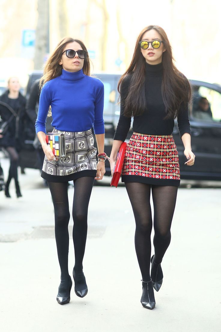 Fashion Skirts How to Wear Womens Skirts Stylishly Wear black tights fashion