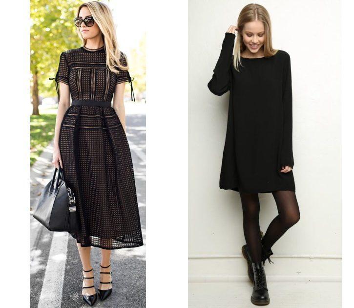 Платье для офиса черное