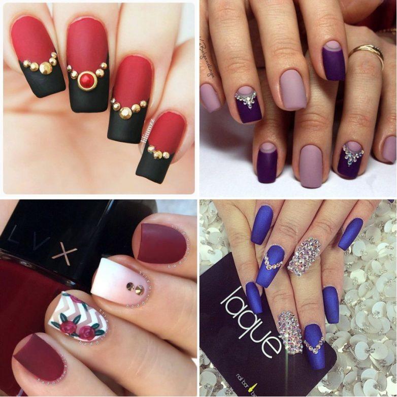 Идеи на ногтях со стразами фото