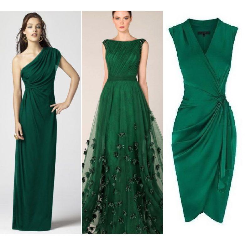 Платья изумрудного цвета 2017