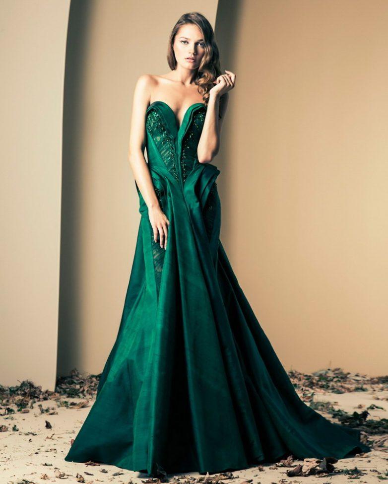Платья изумрудного цвета сшить фото 439