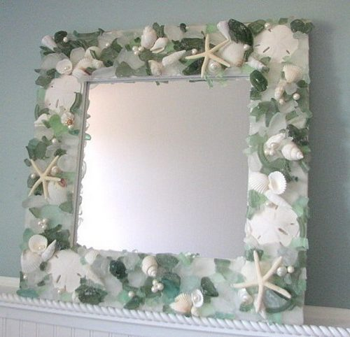 Чем украсить зеркало своими руками фото