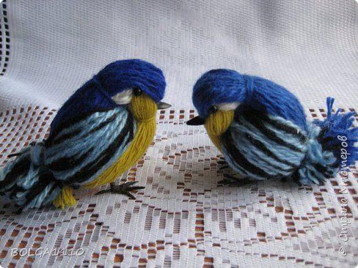 Синички своими руками из ниток