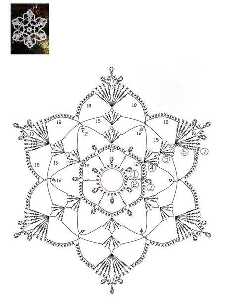 Ня картинки - крючок вязание схемы снежинки - Няшки
