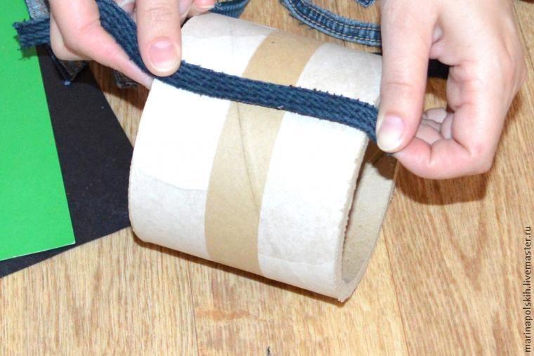 Как сделать брутальный стаканчик из джинсы