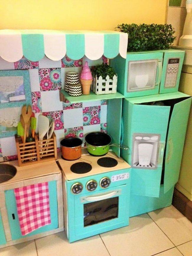 Детские кухни из картона