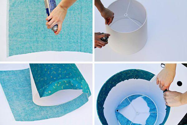 Сделать абажур из ткани своими руками