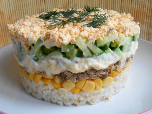 Салат с тунцом «Капля воды»