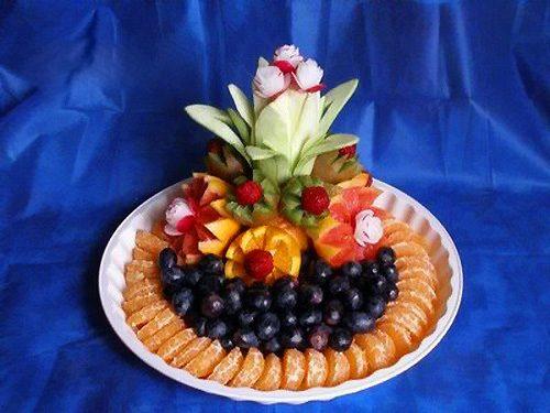 Как украсить вазу с фруктами