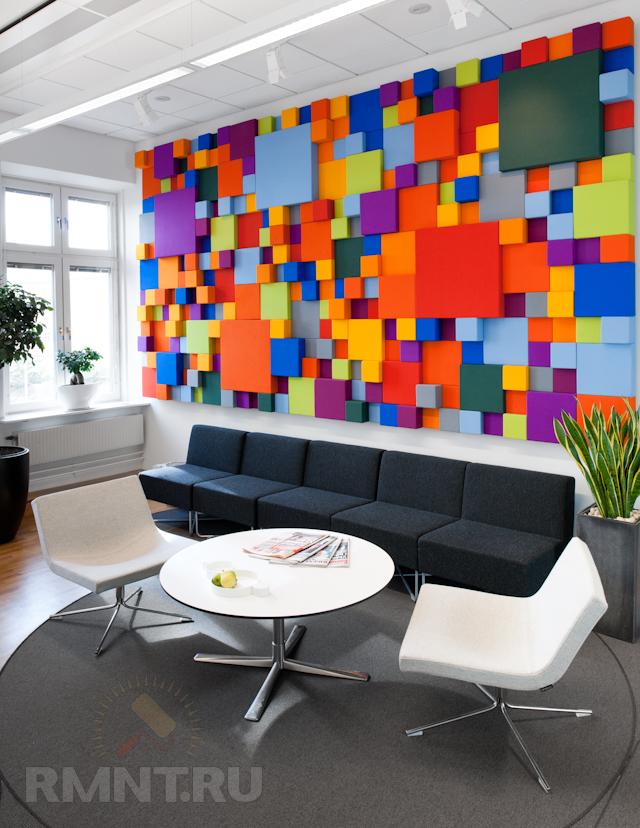 Дизайн стен в офисе