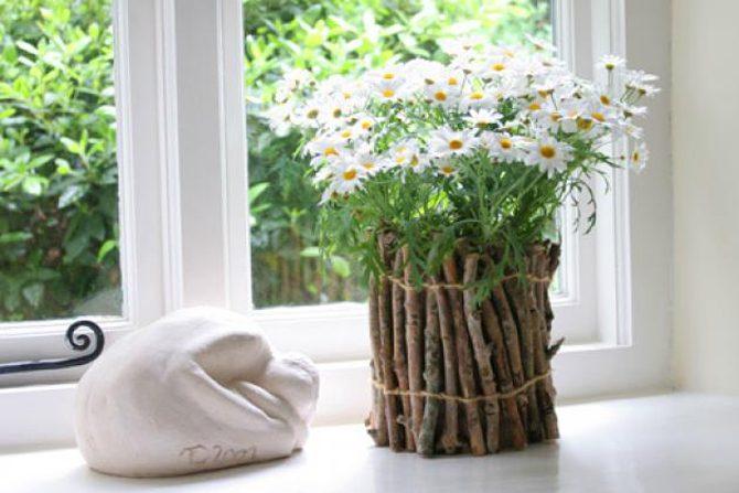 Декор своими руками горшок для цветка
