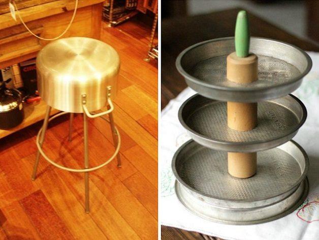 13 интересных идей применения старых кастрюль и сковородок!