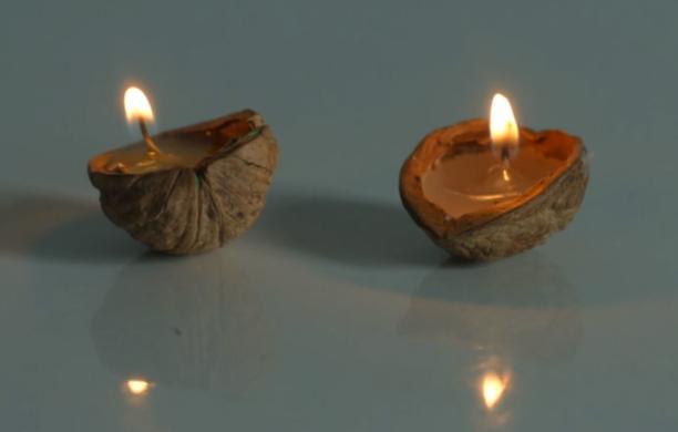 Необычные новогодние свечи своими руками