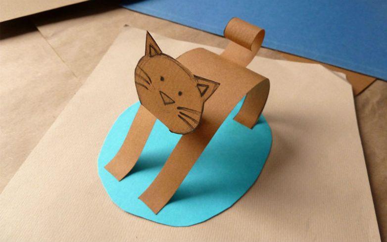 Делаем фигурки животных из бумаги