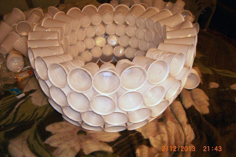 Поделки из пластиковых стаканчиков пошагово