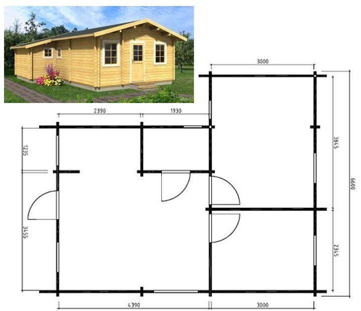 Одноэтажный дом 6 на 6 своими руками