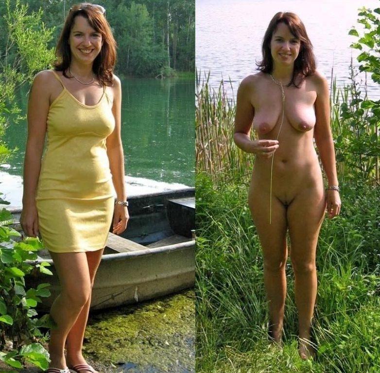 фото голых женщин одетых и сразу раздетых