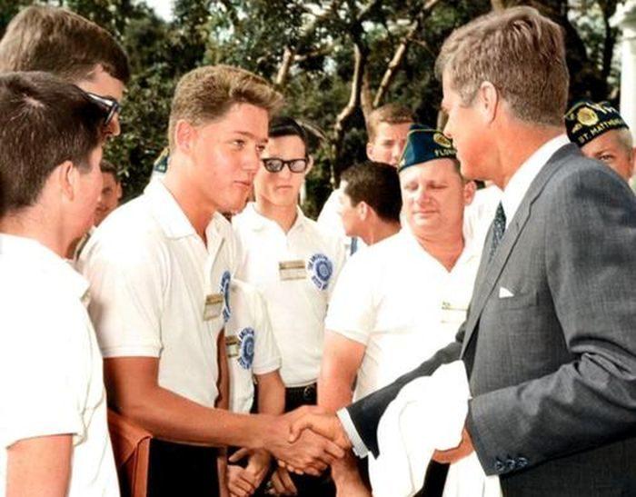 фото Клинтон и Джон Кеннеди