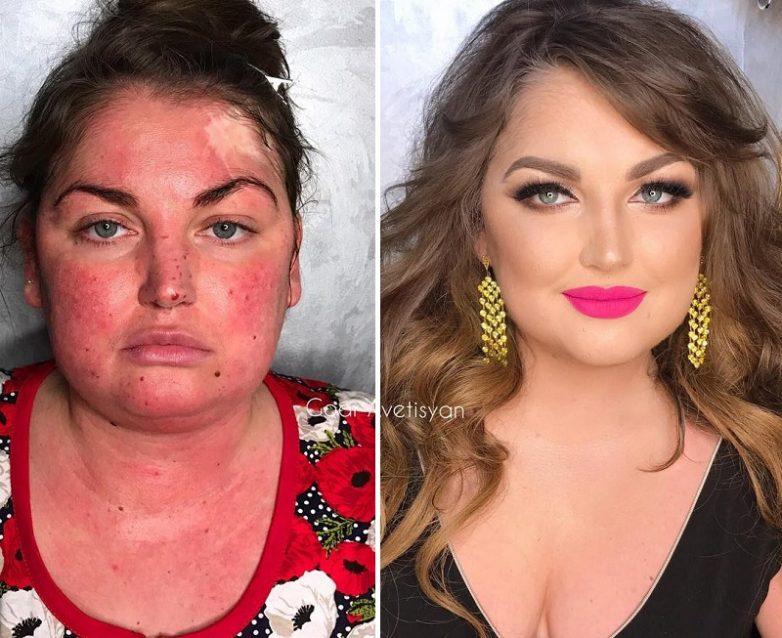 e8b2933497 Вот как макияж может изменить женщину до неузнаваемости