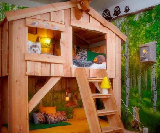 детская комната мечта двухъярусные кровати домики домоседы