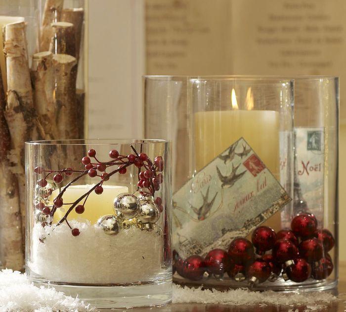 Как  сделать новогодние свечи