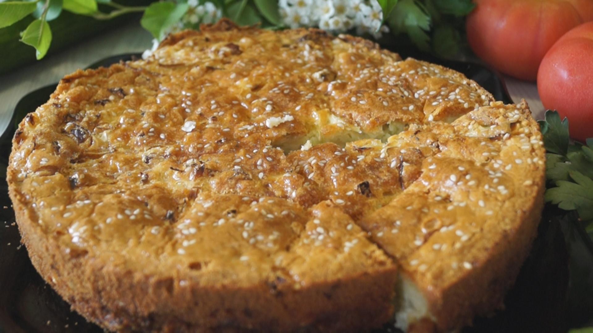 пирог с капустой заливной на сметане рецепт