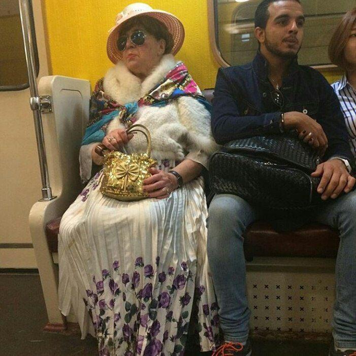 Чудные люди в метро фото