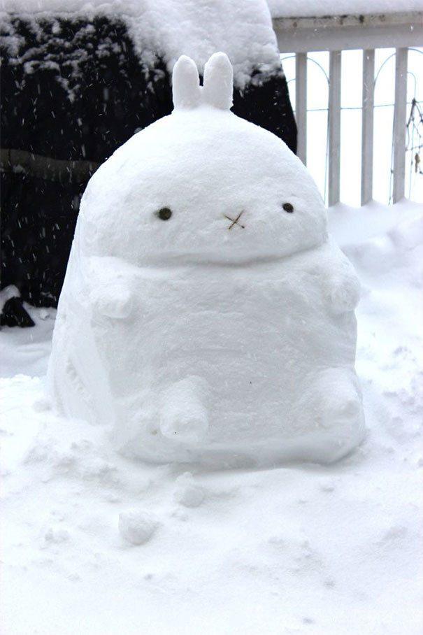 Заяц снега прикольные картинки