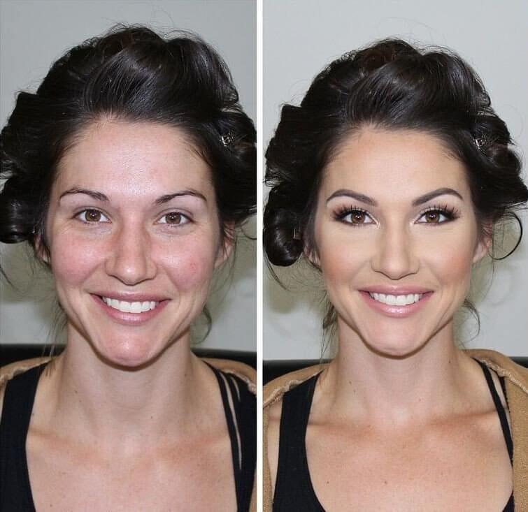 подобное нательное сила макияжа фото до и после траншеи