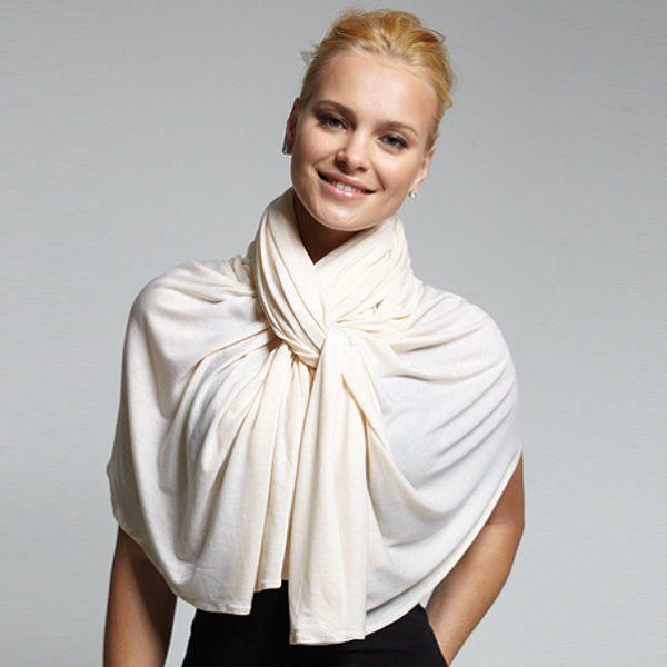 как повязать платок на шею с платьем