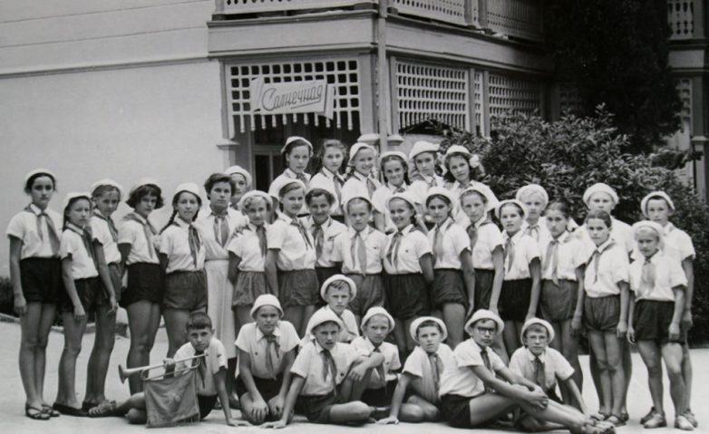 1960-е годы. Пионеры в Артеке.