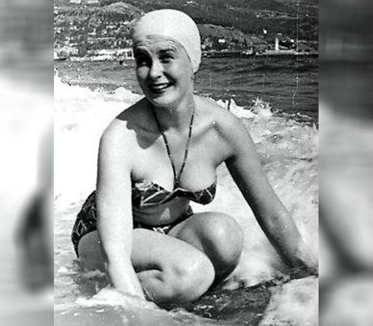 Изольда Извицкая, Ялта, 1960-е