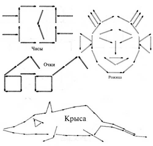 Картинки из спичек схемы
