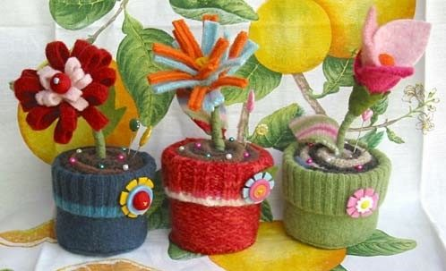 Идеи украшение цветочных горшков