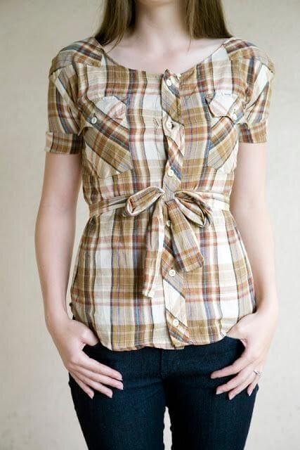 Интересные переделки из мужской рубашки