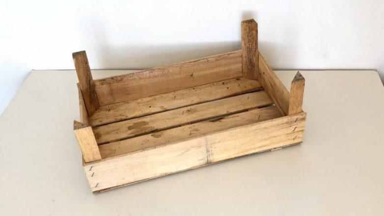 Оригинальная идея из ящика для фруктов