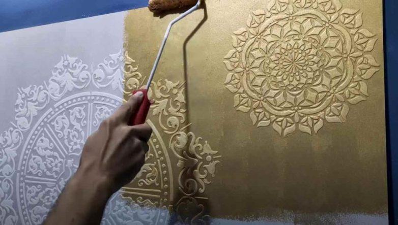 Как оригинально задекорировать поверхность стены