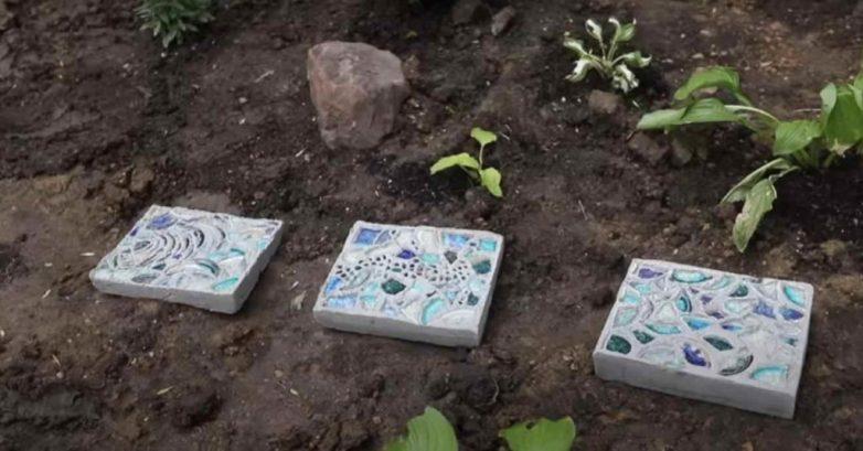 Декоративные плитки для садовой дорожки своими руками