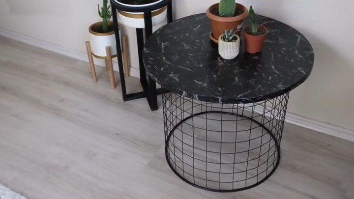 Новый предмет мебели из садовой сетки
