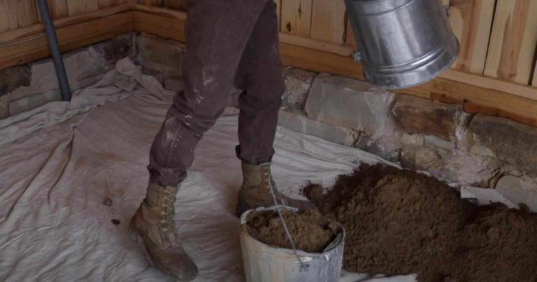 Деревянная брусчатка для укладки пола в мастерской