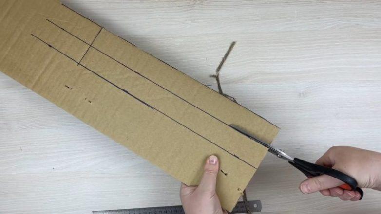 Пушистый ворсовый коврик без вязания