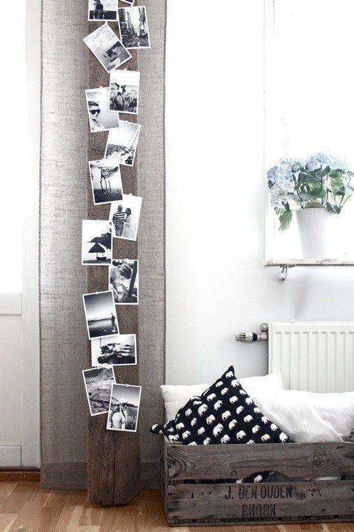 Красивые идеи, как оформить стену фотографиями