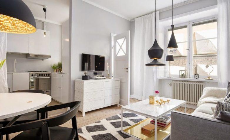 Как оформить маленькую гостиную комнату
