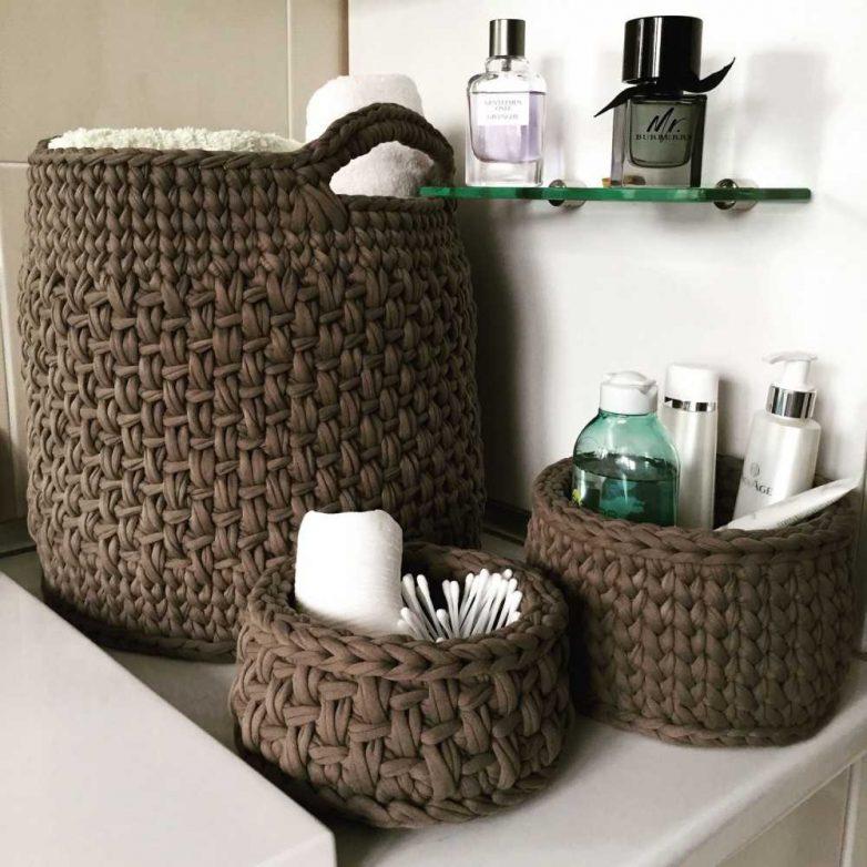 Идеи хранения вещей в маленькой ванной комнате
