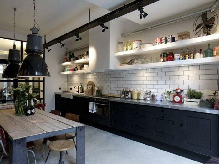 Стильные полки для кухни своими руками