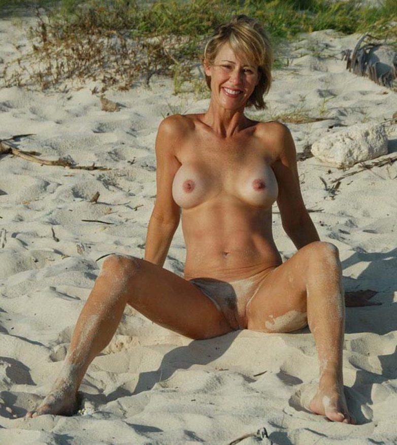 Skinny mature beach