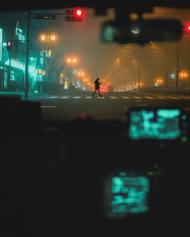Ночь, улица, фонарь... Япония
